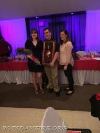 L-R: Girlfriend of FF of the Year Brittany Gilbo, FF of the Year Mark Maroney, and sister to FF of the Year Kara Stone