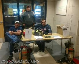 Potsdam members Daid Monahan, Justin McGregor, and Mark Maroney participating in recruitment efforts