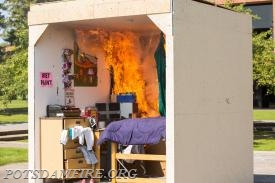 Potsdam Fire helps SUNY Potsdam demonstrate how quickly a dorm room can engulf in flames  *Photo Courtesy of SUNY Potsdam
