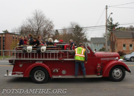 We are hoping to have the old firetruck up and running once again for the parade!