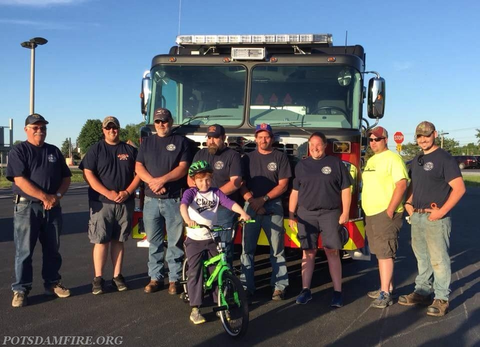 The smile on the firefighters faces says it all!!!